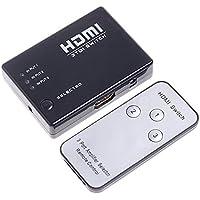 Separador de conmutador - TOOGOO(R) Mini 3 puertos Separador de conmutador de interruptor HDMI 1080P HD Video + IR Remoto