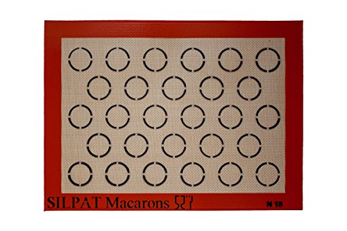 Macaron Backmatte, Silpatmatte 375x275 mm, 28-tlg.