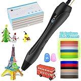 MOREASE Stylo 3D d'Impression, 3D Pen avec 12 Couleurs PLA Filament,Vitesse et Température Réglable, pour Enfants et Adultes