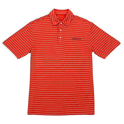 Oxford NCAA Mercer Bears Herren Turner Classic Stripe Polo, Sun Kissed, X-Large (Mercer Oxford)