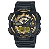 Casio Collection – Herren-Armbanduhr mit Analog/Digital-Display und Resin-Armband – AEQ-110BW-9AVEF