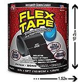 Ruban de réparation robuste et imperméable qui colle et répare quasiment tout  - FLEX TAPE 4' (NOIR)