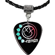 Blink 182 logotipo negro Púa De Guitarra Plectro Collar