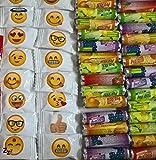 650 Teile Emojis gute Laune Bonbon Traubenzucker Röllchen Wurfartikel Fasching
