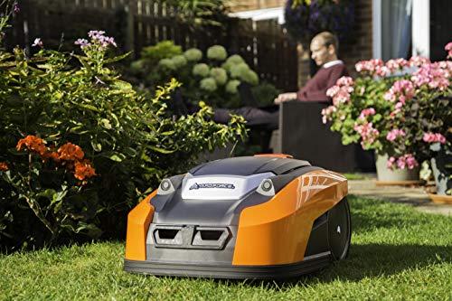 YARD FORCE X60i Mähroboter mit App-Steuerung – Selbstfahrender Rasenmäher Roboter mit Regensensor – Akku Rasenroboter für bis zu 600m² Rasen & 40% Steigung 28 V, schwarz/orange - 5