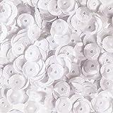 Efco Fil rond incurvé, Sequins, blanc opaque, 6mm, 40g, 4000-piece