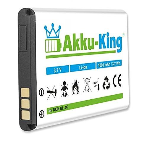 Akku-King Akku für Nokia 1265, 1661, 1662, 2220 slide, 2650, 2651, 2652, 2690, Doro 332GSM, 330GSM - ersetzt BL-4C