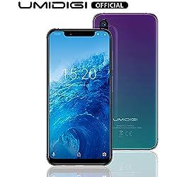 """UMIDIGI One, Téléphone Portable Débloqué Android 8.1 Octa Core 4Go+32Go(extensible à 256Go)Smartphone pas cher 4G Ecran 5,9"""", Double Caméra 12+5 MP, Reconnaissance Faciale, Batterie 3550mAh - Twilight"""