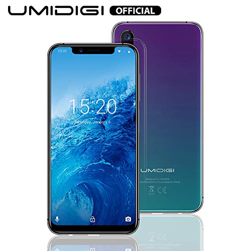 UMIDIGI ONE Global Version 5.9'Full Screen Smartphone, Dual SIM 4G, Android 8.1, Helio P23 Octa Core 4GB+32GB, Batteria 3550mAh Cellulare, Face ID, Triple Camera(16MP+5MP+12MP)-Twilight