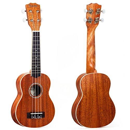 Kmise ukulele soprano mogano Ukelele Ukele-ukulele per principianti Kid chitarra a 4corde Hawaii 53,3cm con rilegatura in ABS