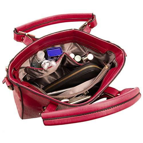VanGoddy, Borsa a mano donna Blu Blu Royal Passion Red