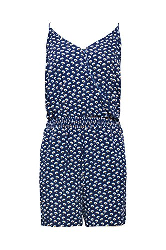 edc by ESPRIT Damen Jumpsuit 068CC1L001, Mehrfarbig (Navy 400), X-Small - 3