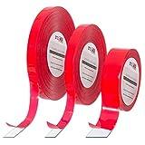 Doppelseitiges Acrylschaum Klebeband Klebebänder beidseitig 5m SK01-T-10 Doppelklebeband Schaumklebeband 1mm x 10mm Acryl Montageklebeband Industrie Spiegelklebeband Isolierklebeband Tape TRANSPARENT
