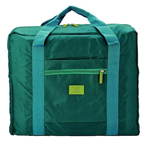 Mangostyle faltbare Reisetasche,32L-55L Nylon Kleidertaschen Faltbare Reise-Gepaeck Duffel Taschen Leichtgewicht Sporttaschen fuer Sports Turnhalle Urlaub Gruen