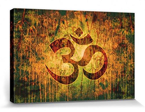 1art1 81120 Spiritualität - OM, Schöpfung Und Göttliche Energie Leinwandbild Auf Keilrahmen 120 x 80 cm