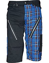Nix Gut Tartan, Short Straight-Fit-Style, Color Black/Blue