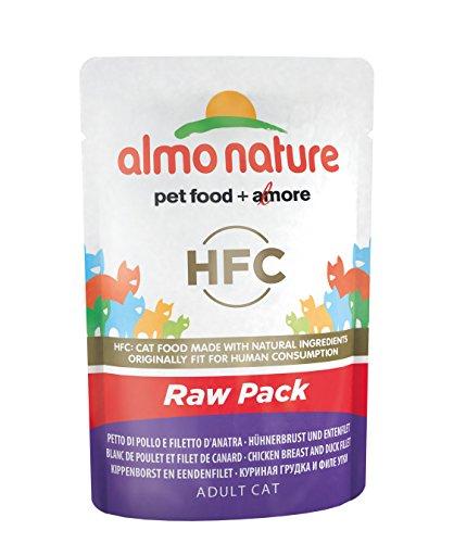 almo nature Katzenfutter Classic Raw Pack Hühnerbrust und Entenfilet, Rohfutter, Ergänzungsfuttermittel - Natur-pack