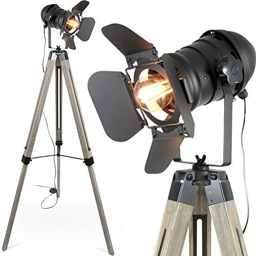 Deckenfluter Ist Anhänger (mojoliving MOJO® Stehleuchte Tripod Lampe Dreifuss Urban Design höhenverstellbar mq-l37)