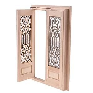 Magideal 1 12 Dollhouse Miniature Wooden External Hollow Screen