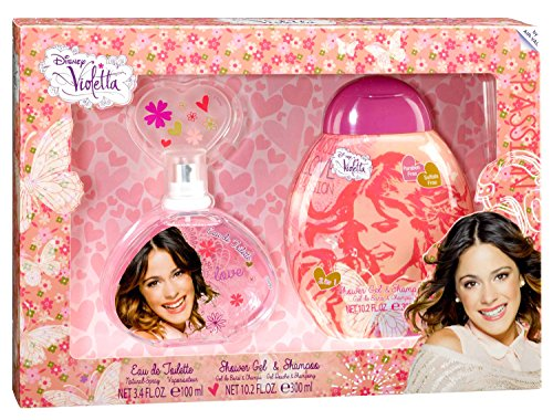 Air-Val Disney Violetta / Geschenk-Set Eau de Toilette Parfum Spray 100 ml plus Duschgel 300 ml - für Kinder, 1 Stück