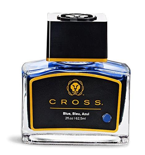 A. T. Cross Tinte für Füllhalter Tintenfass Cross FH-Tinte im Glas blau, mit 62,5 ml