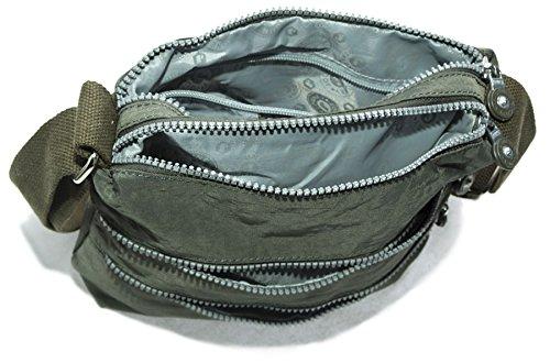 Big Handbag Shop - Borsa a tracolla unisex (Red - Clouds)