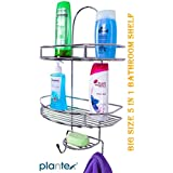 Plantex 5in1 Stainless Steel Big Size Multipurpose Bathroom Shelf/Kitchen Shelf/Holder/Bathroom Accessories For Home