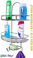 A beautiful way to free up some extra space in your Bathroom, Kitchen & Room. Can be easily fixed anywhere in bathroom , wardrobe , kitchen , home etc. Bathroom Shower Gel Shampoo Bottles Holder Wall Hanging Stand Super Hook Hanger Shelves.