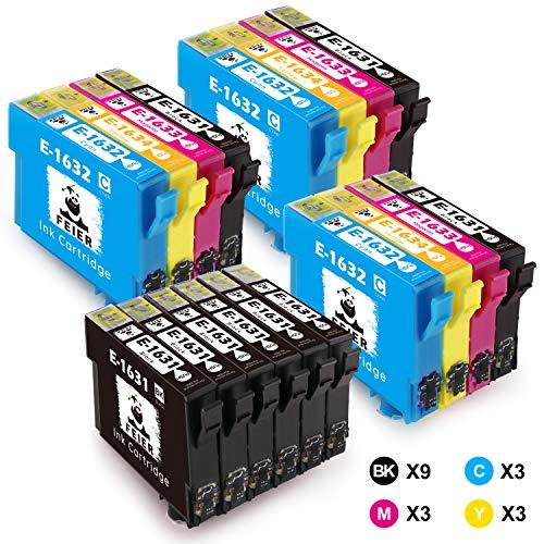 feier 16XL, confezione da 18 cartucce di inchiostro per Epson 16 XL, cartucce compatibili con stampanti Epson Workforce WF-2510WF WF-2530WF WF-2750DWF WF-2630WF WF-2650DWF WF-2010W WF-2520NF WF-2540WF