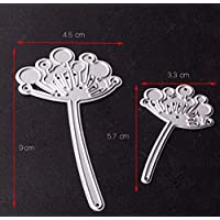 Abenily Small and Practical Life Items 2 Pcs Dandelion Cutting Dies Stencil DIY Cut Die Template for Scrapbook Album Paper Card (Silver)