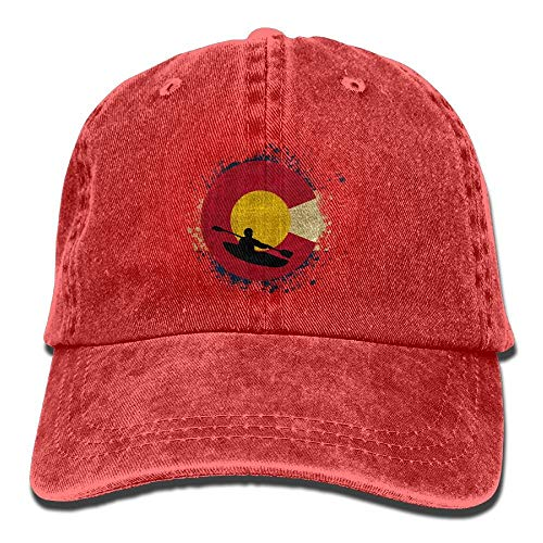 Desing shop Colorado Rafting Kayak Unisex Washed Twill Cotton Baseball Cap Vintage Adjustable Hat Browning-twill Cap