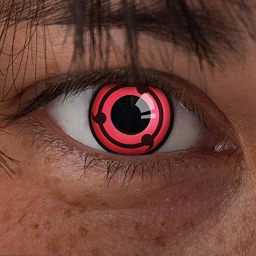 aricona Farblinsen Sharingan Kontaktlinse Ring -Deckende,farbige Jahreslinsen für dunkle und helle Augenfarben ohne Stärke,Farblinsen für Cosplay,Karneval,Fasching,Motto-Partys und Halloween Kostüme