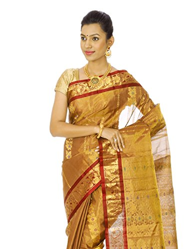 Mahaveer Designers Silk With Tissue Saree (Veera-9_Maroon)