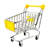 Imported Mini Shopping Cart Trolley Toy Yellow