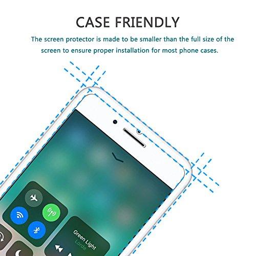 iPhone 8custodia, assorbimento degli urti Ucmda trasparente in silicone TPU paraurti copertura con [schermo in vetro temperato] trasparente copertura protettiva per iPhone 8- trasparente Panda iPhon White Flower