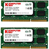 Komputerbay 8GB (2x 4GB) DDR3 SODIMM (204 pin) 1333Mhz PC3-10600 (9-9-9-25) Portatif Notebook Mémoire pour Apple Macbook Pro