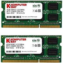 Komputerbay KB 8GB - Memoria RAM de 8 GB (DDR3, 2 x 4 GB , 1333 MHz, 204-pin)