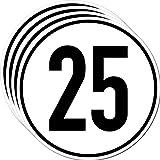 Aufkleber Sticker 25 kmh km/h 20cm Schild Geschwindigkeit für Traktor Schlepper Zugmaschine Multicar Anhänger Fahrzeug (4)