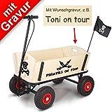 Pinolino Bollerwagen 'Pirat Jack' mit Bremse MIT GRAVUR (z.B. Name)