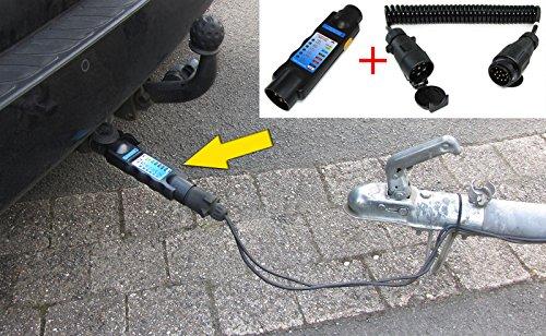 Tenzo-R 26414_2 Auto Anhänger Stecker Prüfgerät Beleuchtungs Tester mit Adapter 13 auf 7 polig