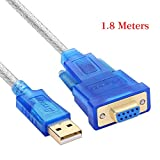 Venel USB 2.0 to RS232 DB9 Female Serial Adapter Cable 1.8m with CD / PL2303 Chipset / Support 98/ME/2000/2003/2008/Andoid/XP/win7 8 8.1 10/Mac OS/Linux