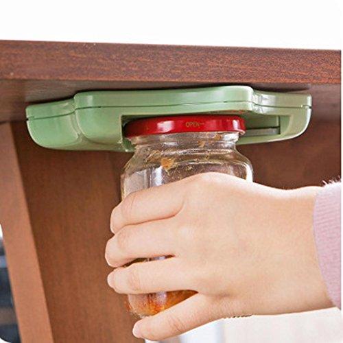 Hunpta Glasöffner für Arthritis, Glasöffner unter Küche Schrank Counter Top Deckel Entferner Arthritis Pack grün -