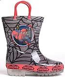 Kleinkinder Jungen Mädchen Bedruckte Outdoor Light Sohle Gummistiefel, mehrfarbig - spiderman - Größe: 27 EU C