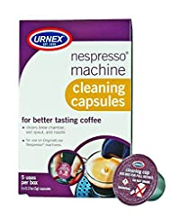 Urnex Nespresso Machine Cleaning Capsules, 5 Count