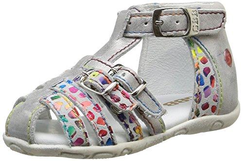 GBB Maelia, Chaussures Bébé marche bébé fille Multicolore (18 Vtc Gris Clair/Mosaic Dpf/Zabou)