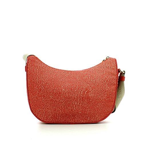 Borbonese 934756296, Borsa a Tracolla Donna, 28 x 24 x 11 cm (W x H x L) Rosso