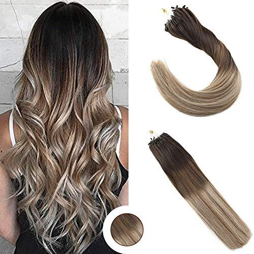 Ugeat 20 Pulgadas Easy Loop Hair Extensions Humano