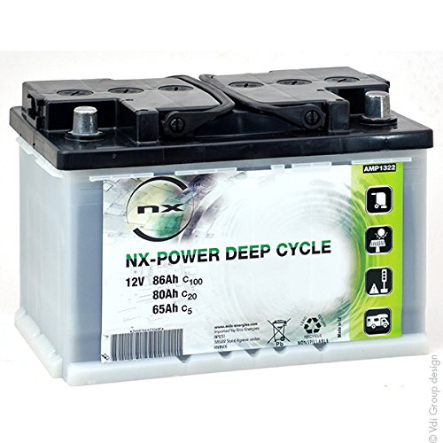 NX - Batteria Piombo Aperto Power Deep Cycle 12V 65Ah Auto