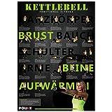 Kettlebell - Workout Übungsposter DIN A1 Training Poster Kettlebell Übungen