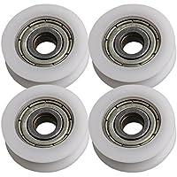 BQLZR 21x5x7mm 625ZZ Tipo U Gu¨ªa de rodamiento de bolas Rodamiento Ruedas Roller Load-bearing 67KG para Door Window Cabinet Printer Pack de 4